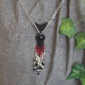 Handmade Black Crystal Pendant